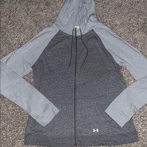 Under armor zip up sweater